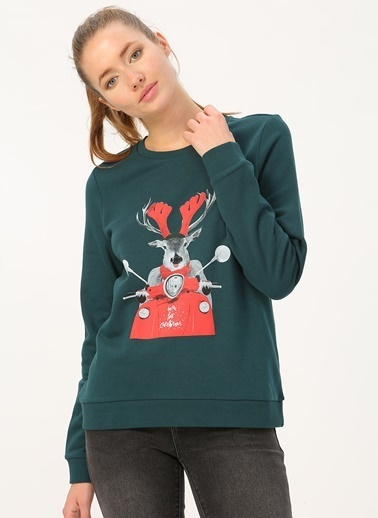 Vero Moda Sweatshirt Yeşil